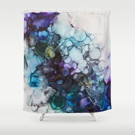Dusk Alcohol Ink Painting Shower Curtain