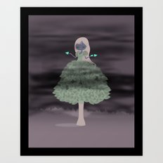 Tree Girl Art Print