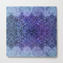ABERDEEN HEIRLOOM, LACE & DAMASK: FRENCH BLUE Metal Print