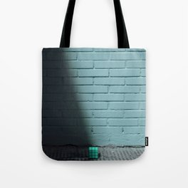 Blue and shady cube Tote Bag