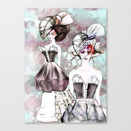 Dog Rose Parade Canvas Print