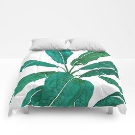 banana leaf watercolor Comforters