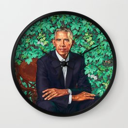 Portrait of barack Obama Wall Clock