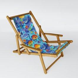 Underwater cartoon cute pattern Sling Chair