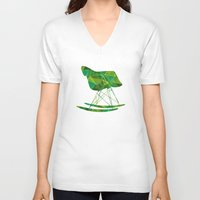 eames V-neck T-shirts featuring Eames Rocker by MoMo
