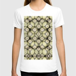 Ornate Pattern 2. Black. Green. Floral Pattern. Flowers.Damask T-shirt
