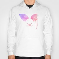 piglet Hoodies featuring Always Forever - Piglet by Sara Eshak