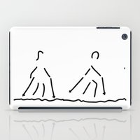 fitness iPad Cases featuring nordic walking fitness sport by Lineamentum