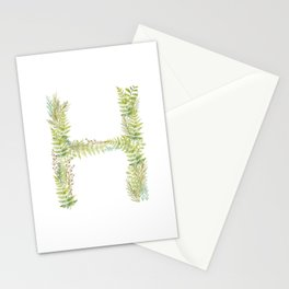 Initial H Stationery Cards