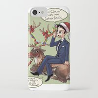moriarty iPhone & iPod Cases featuring Moriarty Christmas by Tintreas