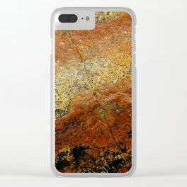 Beach Stone Abstract Clear iPhone Case