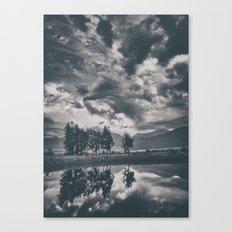 Black and white lake Canvas Print