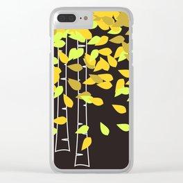 Autumn Birches Clear iPhone Case