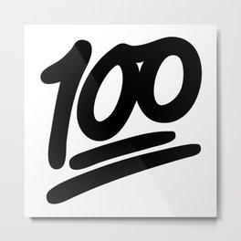 100 EMOJI BLACK Metal Print