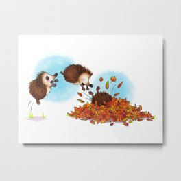Fall Hedgie 1 Metal Print