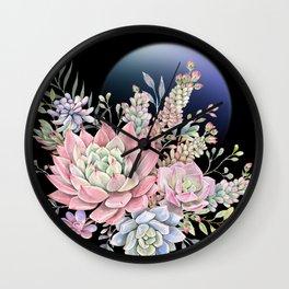 succulent fullmoon 6 Wall Clock