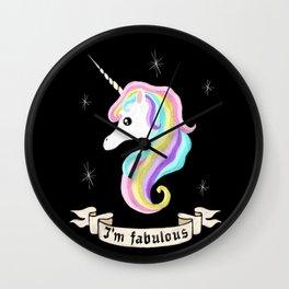 Fabulous unicorn Wall Clock