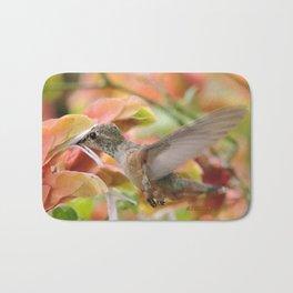 Little Ms. Hummingbird in for More Licks Bath Mat