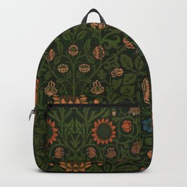 Violet and Columbine by William Morris (1834-1896) Backpack