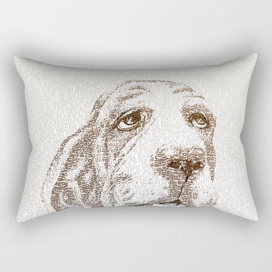 Old Wise Basset Rectangular Pillow