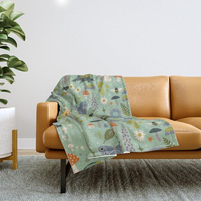 Fairy Garden Throw Blanket