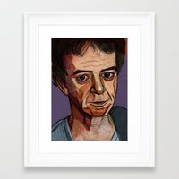 lou reed Framed Art Prints featuring Lou Reed by Cara Andrianos