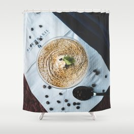 Coffee Frappe Shower Curtain