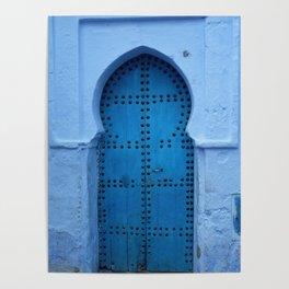 Exotic Blue Door in Morocco Poster