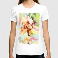 water colour T-shirts featuring Water colour parrot tulip by thea walstra