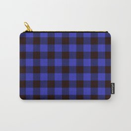 Blue Plaid Carry-All Pouch