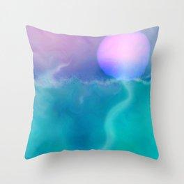 Sea and sun Throw Pillow