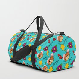 Hammy Pattern in Turquoise Duffle Bag