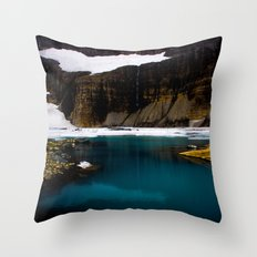 Grinell Glacier  Throw Pillow