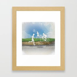 Get Outside Framed Art Print