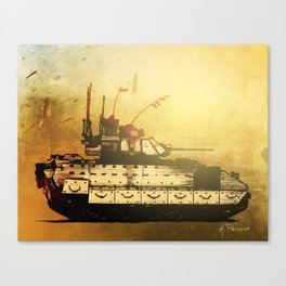 Bradley Fighting Vehicle Canvas Print