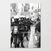 police Canvas Prints featuring Police by Brandon Elliott Buell