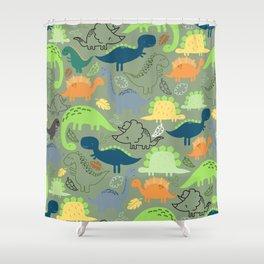 Dinosaurs jungle pattern Shower Curtain