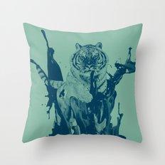 Paint Tiger Throw Pillow
