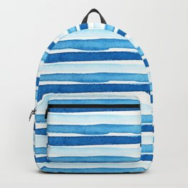 Blue Watercolour Stripes Backpack