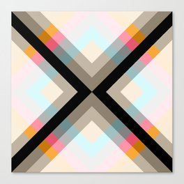 Abstract Retro Pattern 06 Canvas Print