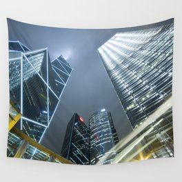 Hong Kong Night City Wall Tapestry