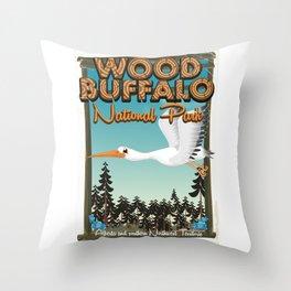 Wood Buffalo National Park Throw Pillow