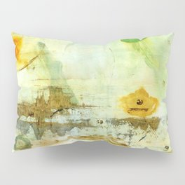Drifting, Abstract Landscape Art Painting Pillow Sham