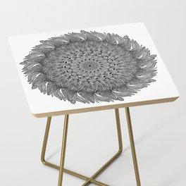 Mandala Leaf Universe Meditation Side Table