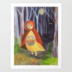 Little red-riding hood Art Print