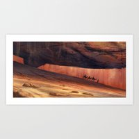 Through the mountains Art Print
