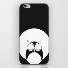 Sleepy owl iPhone & iPod Skin