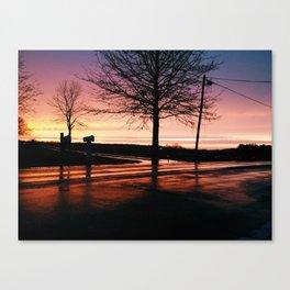 Rainy Sunset Canvas Print