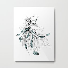 Poetic Betta Fish Metal Print