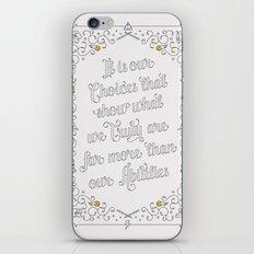 Harry Potter Typographic Quote iPhone & iPod Skin